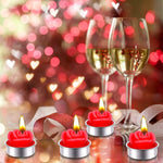 12 Pack Red Rose Tealight Candles