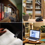 Book Light With Blue Light Blocking Bed Lights With Amber Led Lamp Clip On Book Light Rechargeable Lightweight Portable Light Reading At Night Light Like Blue Blocker Reading Glasses 360 Bendable Neck
