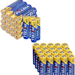 80 Pack Combo 40 AA + 40 AAA 1.5V Extra Heavy Duty Batteries
