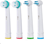 4 Pack Replacement Brush Heads for Oral B Braun Professional Ortho Brush Head & Power Tip Kit