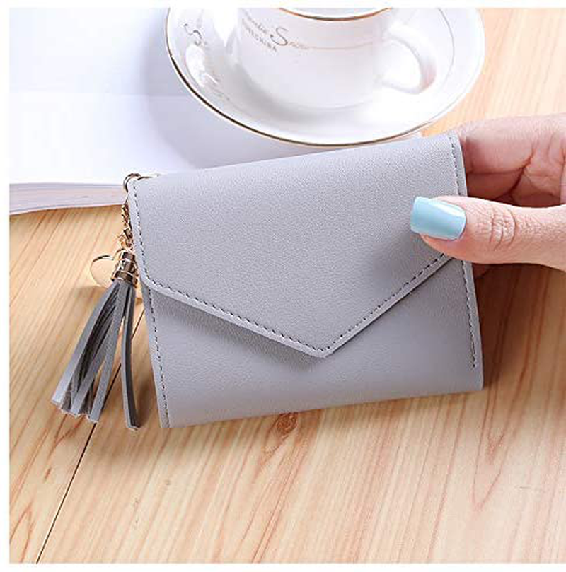 Small Wallet for Women,Ultra Slim Pu Leather Credit Card Holder Clutch Wallets for Women
