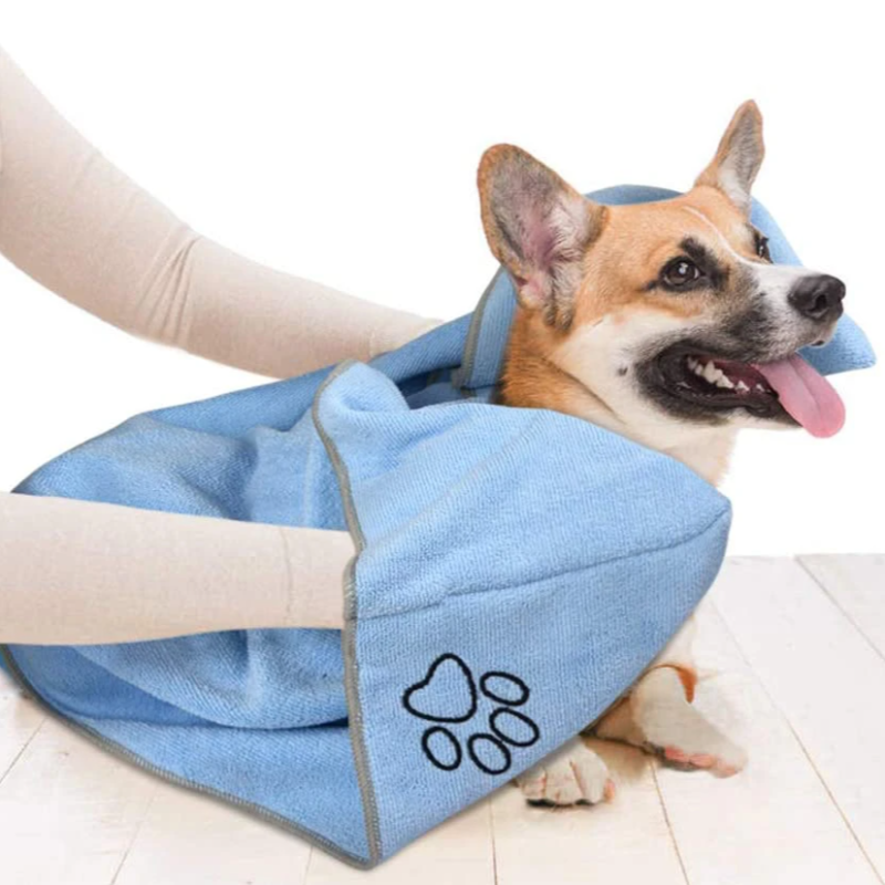 Super Absorbent Quick -Dry Microfiber Bath Towel For Dogs