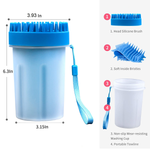 2 in 1 Portable Dog Paw Washer Dog Cleaning Brush Cat Dog Foot Cleaner Cup