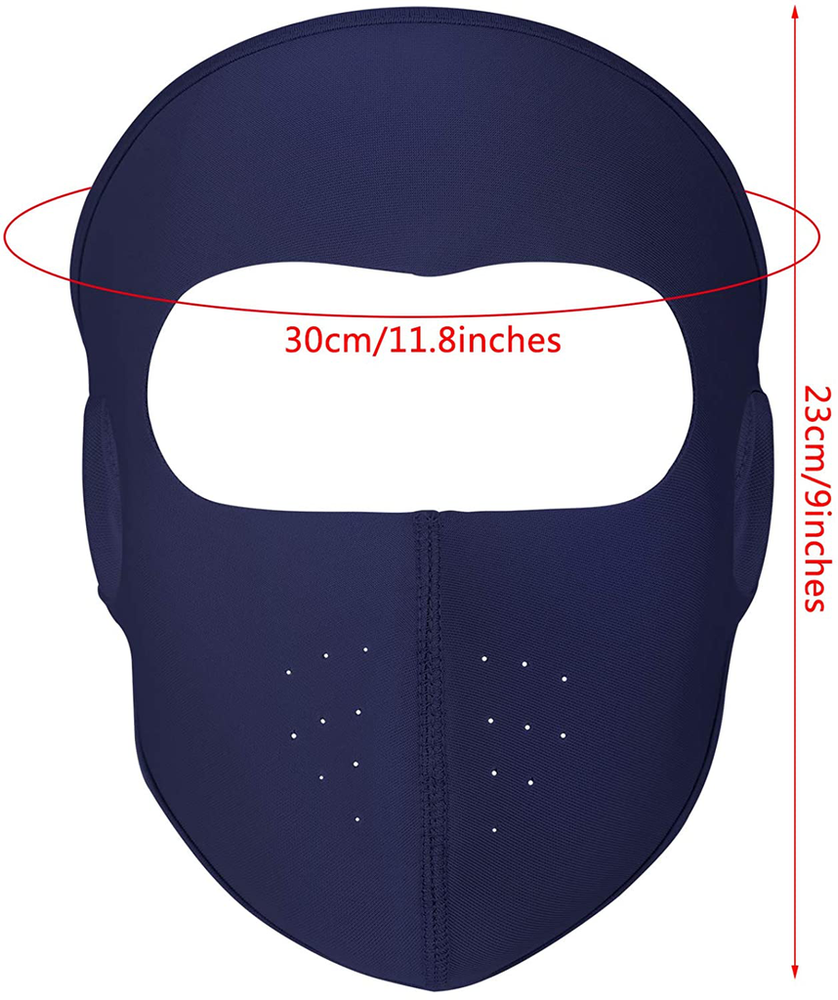 6 Pack Breathable Windproof Fleece Face Masks