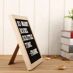 Changeable Wooden Message Board With Display Stand And Wall Mount