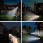 Amposei LED Solar Light Spotlights Waterproof Motion Sensor Outdoor Light Solar Garden Lamp Auto On/Off 180° Angle Ajustable No-Wire Installation Security Lights for Yard Driveway Patio Pathway