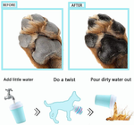 Easy to Use Portable Dog Paw Cleaner Cup Dog Foot Washer with Silicone Washers Nice Packing