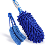 Set of 2 Multipurpose Microfiber Automotive Cleaning Brush Free Interior Detail Brushes