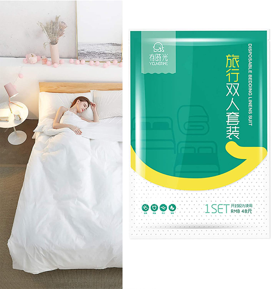 4 Piece Disposable Bed Sheets