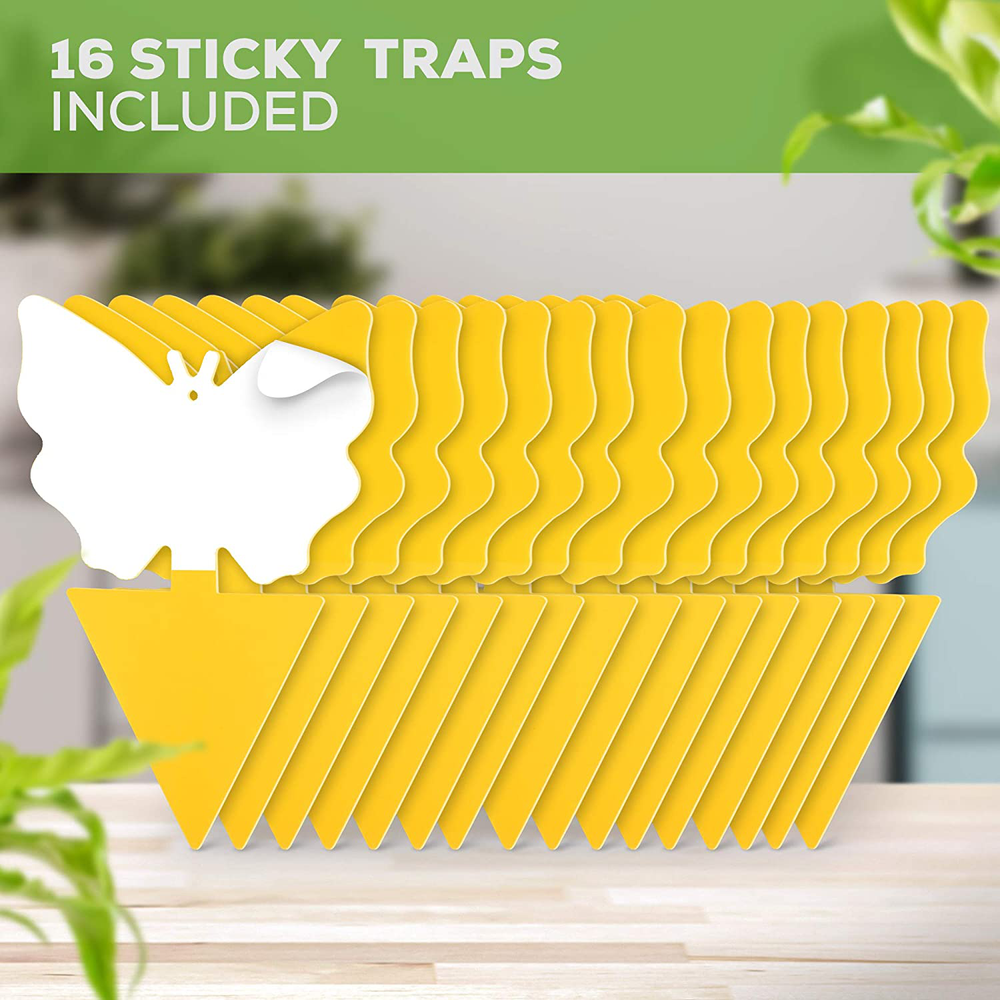 Botanica's Best Fruit Fly Gnat Traps Indoor Outdoor 16 Pack