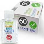 Hand Sanitizer Gel (60 Pack - Mini 2 oz Bottle) - 75% Alcohol - Kills 99.99% of Germs - Small 2oz Bulk Travel Size Individual Personal Pocket 2 Ounce Bottles