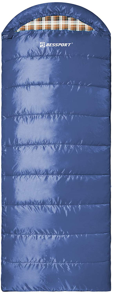 Bessport Sleeping Bag for Adults, 40℉ Winter Warm & Cold Weather 3-4 Season Sleeping Bag, Lightweight and Water Repellent for Backpacking, Camping, Hiking