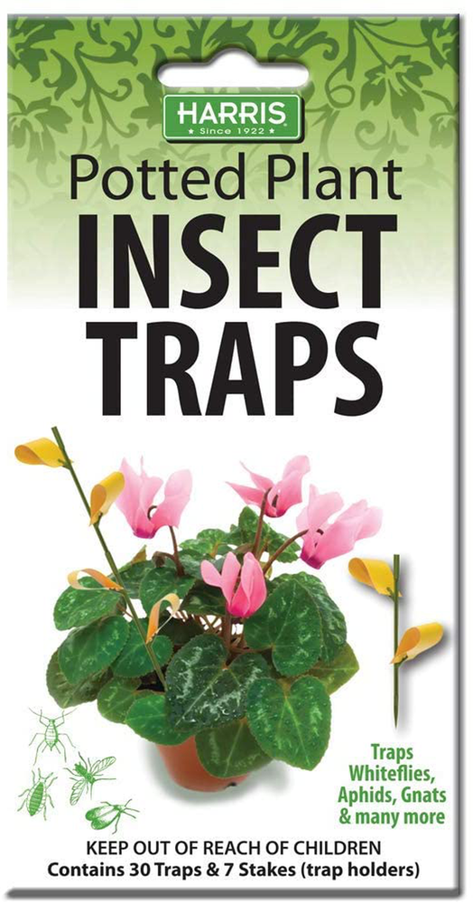 Potted Plant Insect Traps for Gnats, Aphids, Whiteflies and More