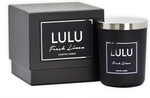 Lulu Candles | Fresh Linen | Luxury Scented Soy Jar Candle | Hand Poured in The USA | Highly Scented & Long Lasting - 2 Pack - 9 Oz. - NO LID