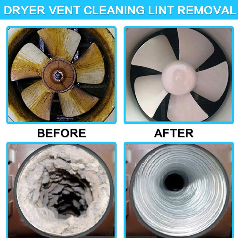 Dryer Vent Vacuum Hose Attachment Brush Lint Remover