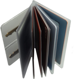 One Heavy Duty Vinyl 6 Pages Insert with Key Pages for Bifold or Trifolds Wallet Made in USA