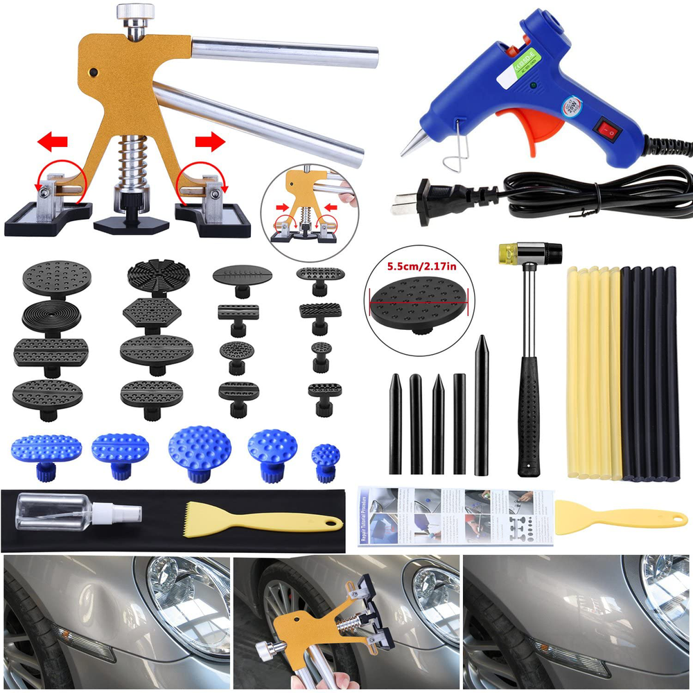 Gliston 7Pcs Auto Trim Removal Tool Kit,Car Door Panel/Radio Removal Dash Pry Clip Tools
