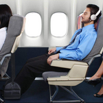 Memory Foam Foot Rest Hammock For Airplane Travel