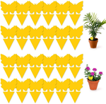 48 Pcs Sticky Fly Traps, Yellow Fruit Fungus Gnat Trap Killer for Indoor and Outdoor, Protect The Plant