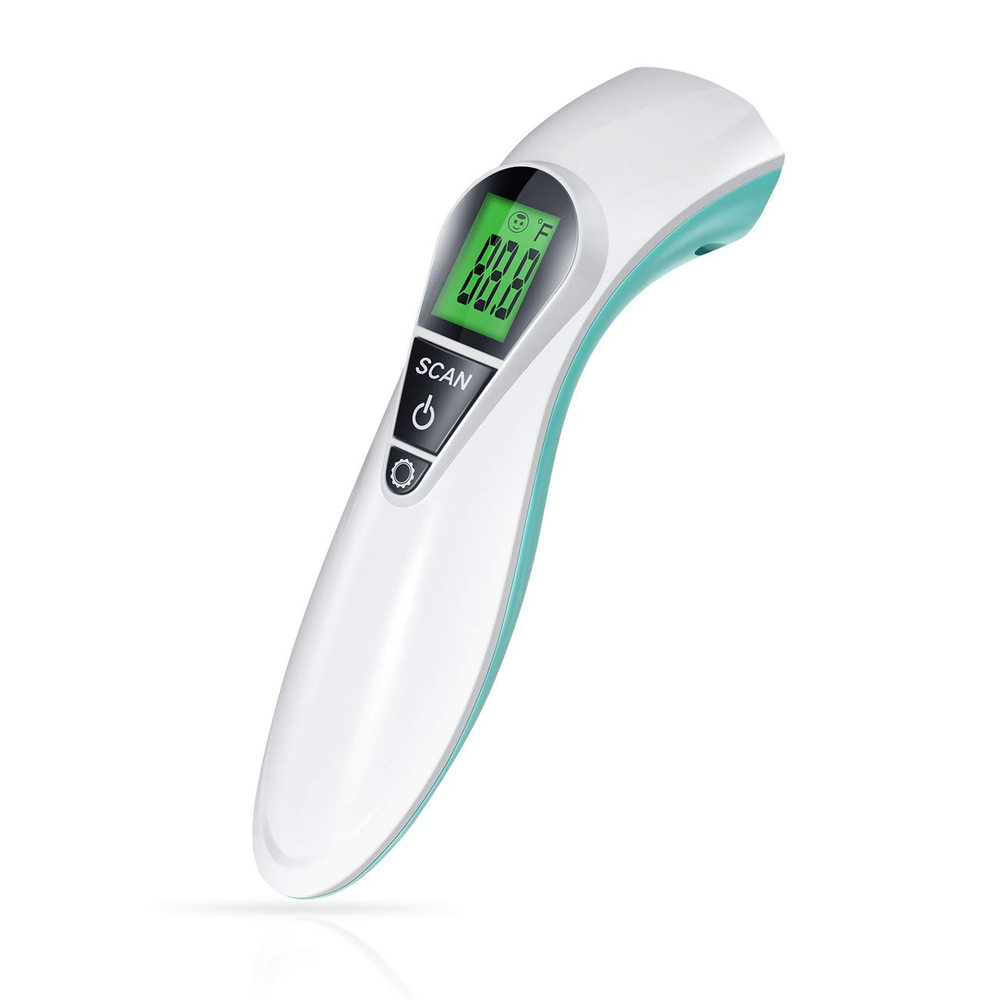 Forehead Thermometer for Adults, Asucway The Non Contact Infrared Thermometer for Fever, Baby Thermometer with Large LED Display Alert Medical Thermometer