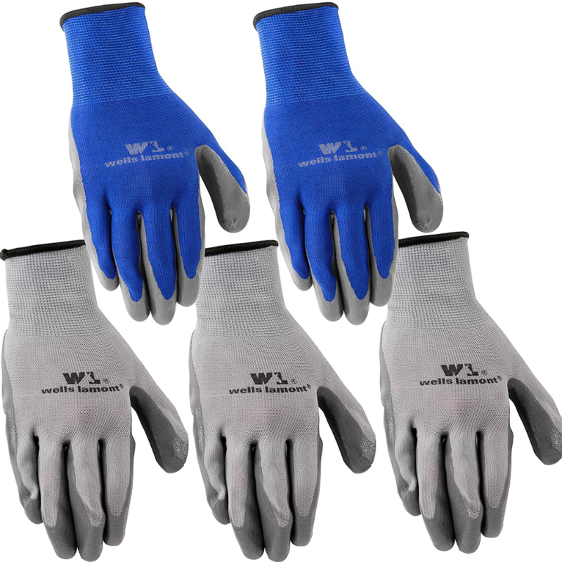 Men's 5 Pack Nitrile Work Gloves