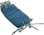 "GREEN KIDS CLUB Doll Sleeping Bag with Attached Pillow. It can fit Small Dolls, or use with Our Doll Collection. (Victor, Maya, Tiago or Anju) Measurements are; 10.5"" X 5"" (Doll not Included)"