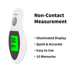 JASUN Touchless Forehead Thermometer for Adults and Kids Baby Digital Thermometer for Fever No Touch Infrared Clinic Thermometer with Temperature Alarm Accurate and Memory Function(Celsius ONLY)