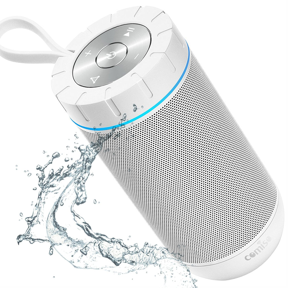 Waterproof Bluetooth Speaker with 24 Hours Playtime,360 Degree Superior Sound with Dual 6W Drivers Dual Passive Radiators wireless Portable Speaker for Outdoor