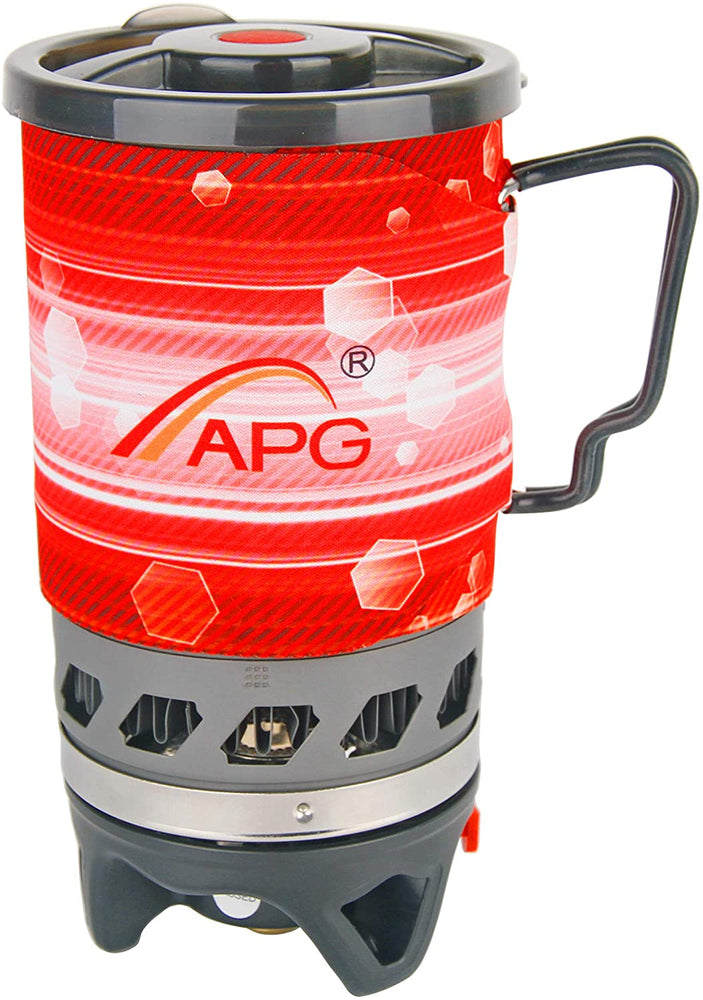 APG Portable Gas Stove Personal Cooking System Backpacking Outdoor Burner Hiking Camping Equipment Heat Exchanger Pot