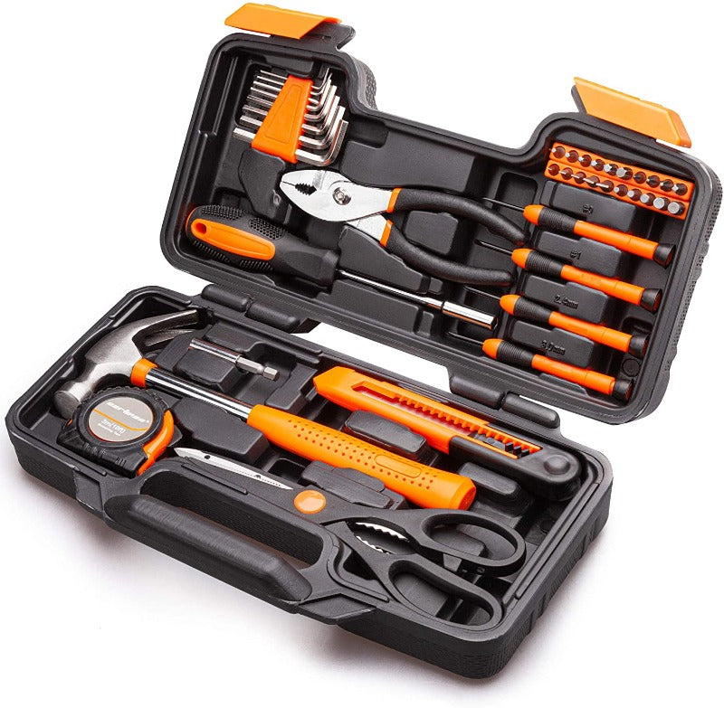 39-Piece Household Tool Set With Storage Case