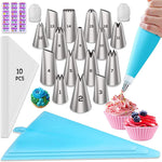 30 or 74 Piece Piping Bags and Tips Set for Frosting