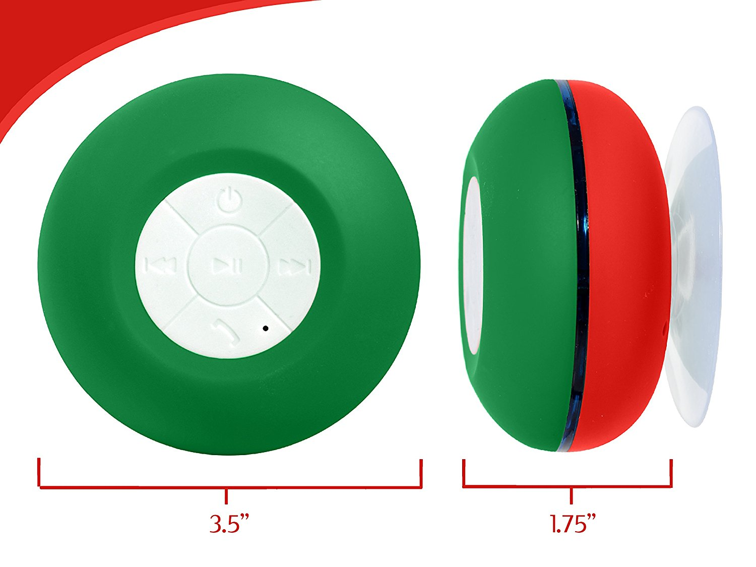 Image of Wireless Bluetooth Water Resistant Speaker with Built-In Mic & LED Lights