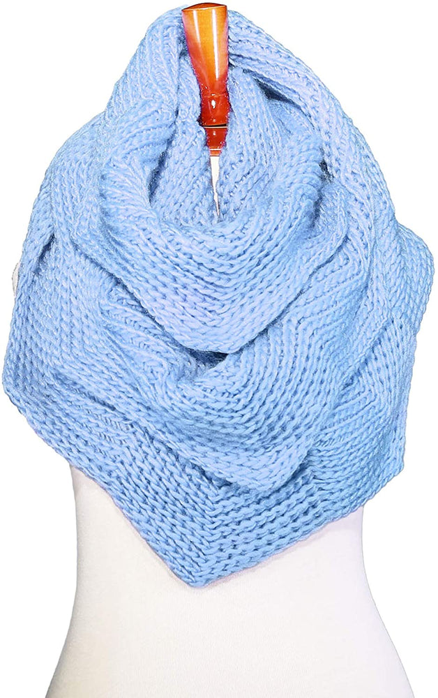 Basico Women Winter Infinity Scarf Warm Knitted Circle Loop Various Colors…