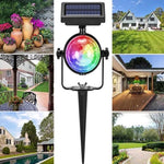 Outdoor Solar Powered Rotating RGB Crystal Colorful Magic Ball
