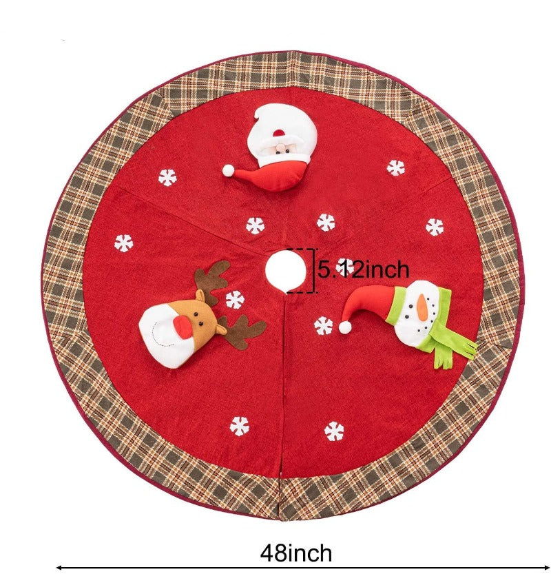 Santa And Friends Holiday Tree Skirt