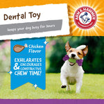 Arm & Hammer Nubbies Dental Toys T-Rex Dental Chew Toy for Dogs | Best Dog Chew Toy for Moderate Chewers | Reduces Plaque & Tartar Buildup Without Brushing
