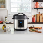 8-in-1 Stainless Steel Crock-Pot 6 Qt Multi-Use Express Crock Programmable Slow Cooker