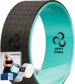 pete's choice Yoga Wheels with Yoga Strap & Exercise Guide | Comfortable & Durable Yoga Balance Accessory | Increase Flexibility | Improve Posture