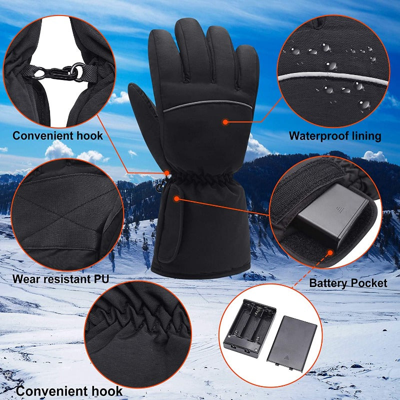 Men's Rechargeable Electric Heated Winter Gloves