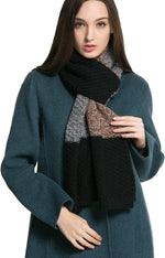 Women Men Winter Thick Cable Knit Wrap Chunky Warm Scarf