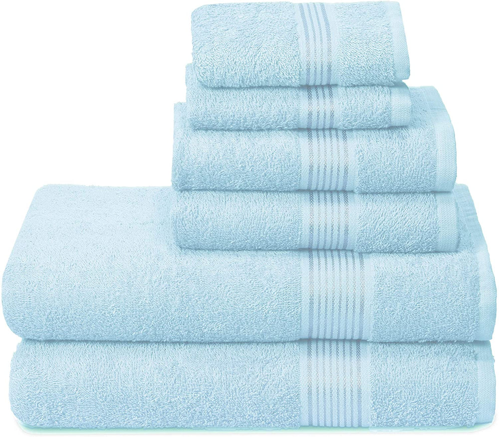 6 Pack Ultra Soft Cotton Quick Dry Towel Set