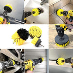 3 PCS Drill brush Bathroom Surfaces Tub, Shower, Tile, and Grout All Purpose Power Scrubber Cleaning Kit