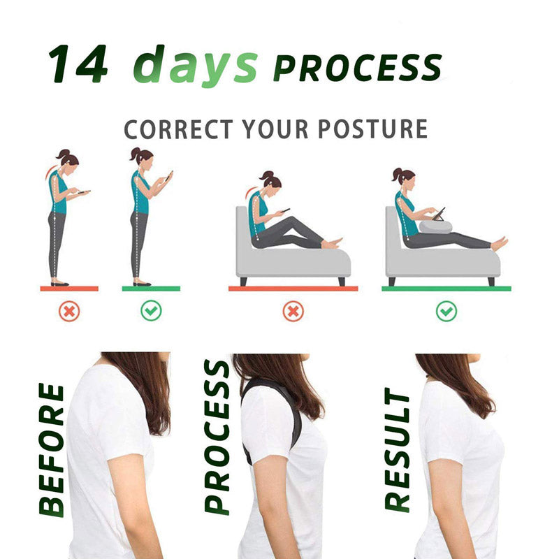 Unisex Adjustable Back Posture Corrector Lumbar Brace Support Belt