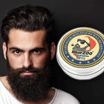 Men's Natural Moisturizing Smoothing Beard Moustache Beeswax Styling Oil Balm