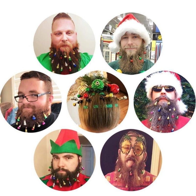 12 or 16 Piece Christmas Ornament Beard Clips
