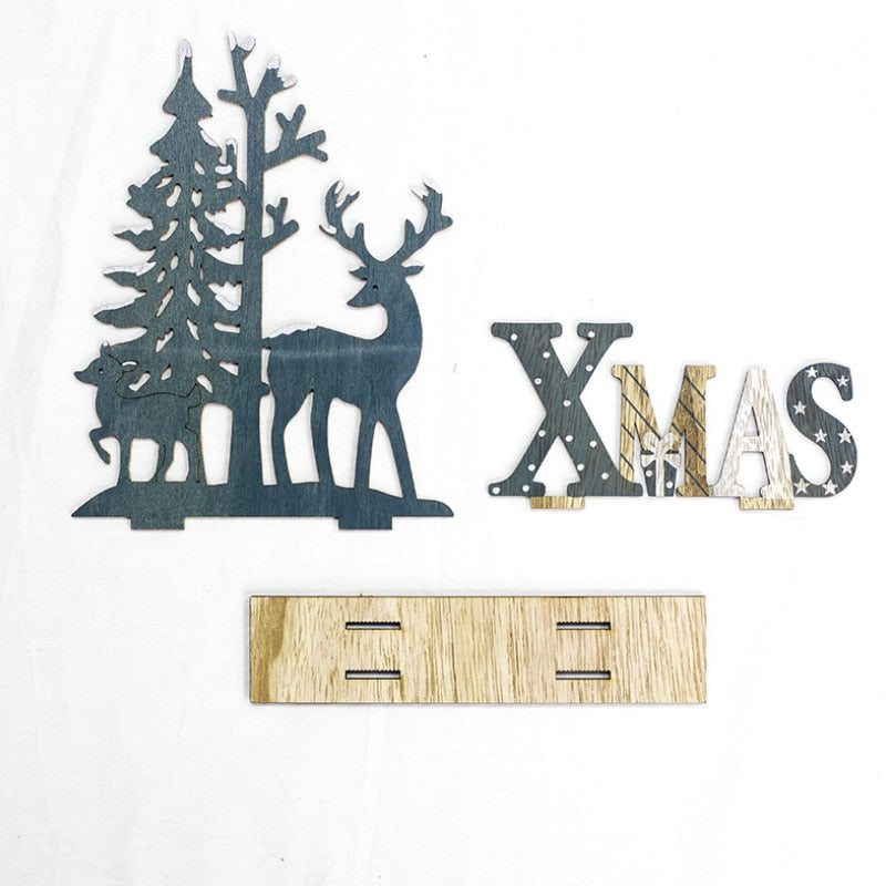3D Wooden Christmas Elk Decoration