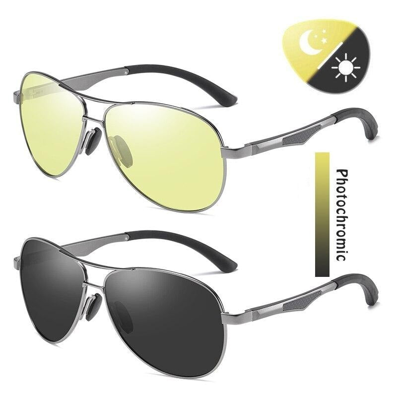 Men's Aviation Photochromic Polarized UV400 Sunglasses
