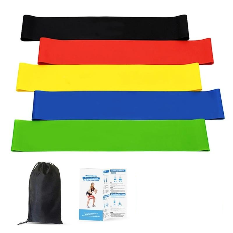5 Pack Workout Fitness Exercise Resistance Loop Bands