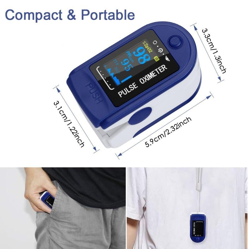 Finger Tip Oxygen Saturation Monitor Oximeter Heart Rate Monitor