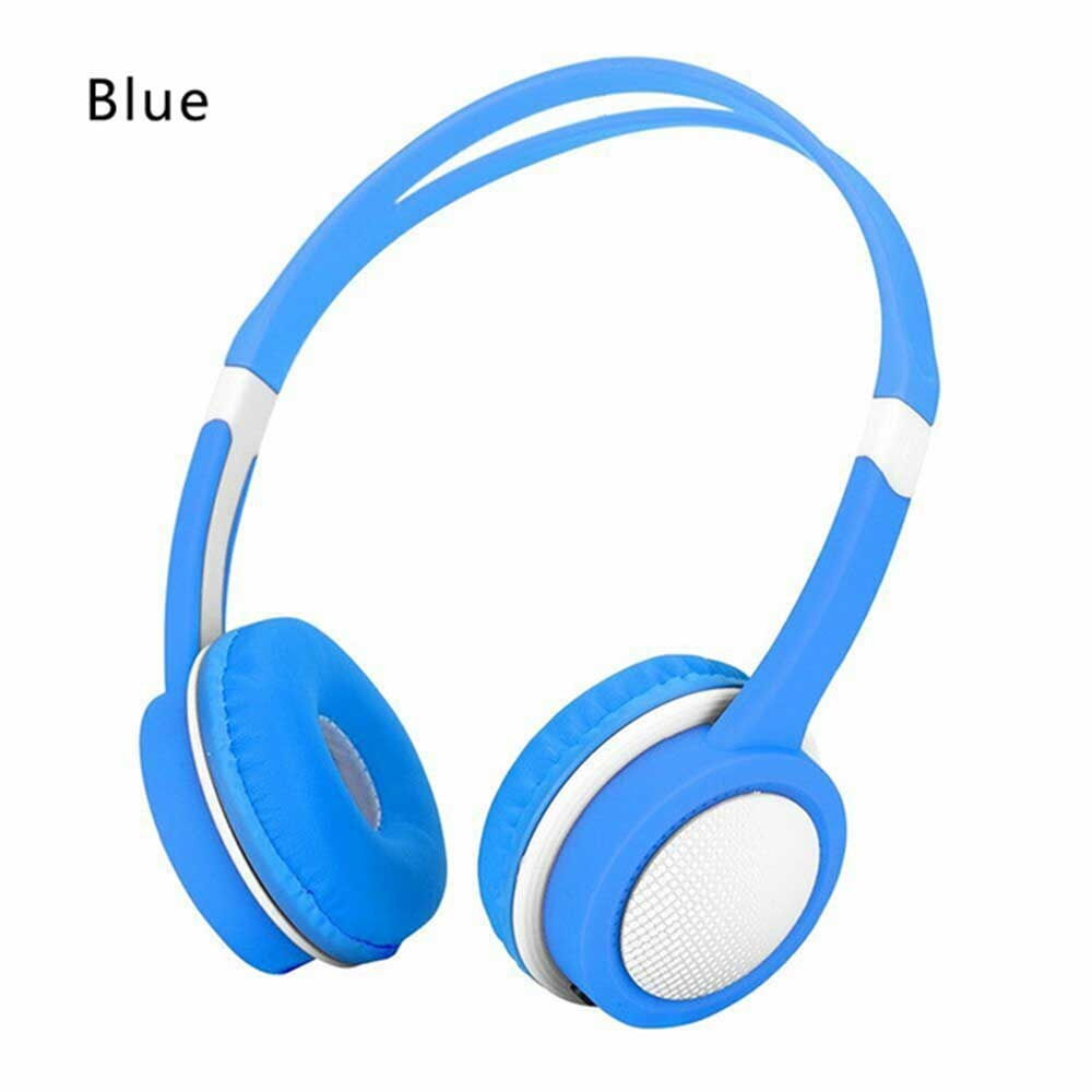 Kid's Adjustable Safety Headphones with Mic - Blue
